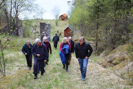 På tur opp fra Gyltviksjyen