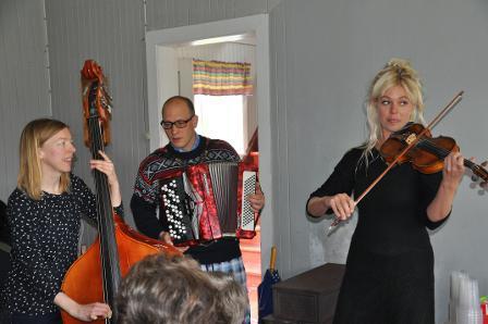 f.v. Victoria Liedbergius, Magnus Bjørnsen Løberg og Sofie Mortvedt