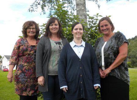 F.v. Elisabeth Laksosnes, Sissel L. Olsen, Rita Berg og Lisbeth Bernhardsen