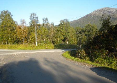 Busstopp for skolebarne ved kryss Lakselva