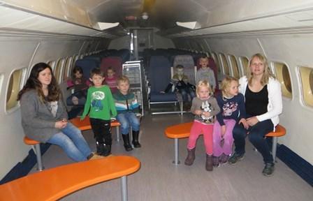 Inne i flyet
