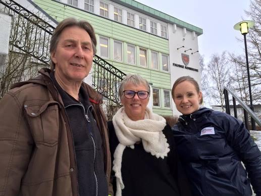 F.v. Steinar Strand, Irene Larssen og Stine Wike