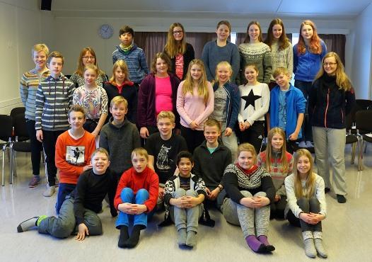 7. klassinger i Sørfold på leirskole