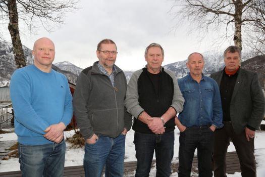 Ordførerne i f.v. Tysfjord, Sørfold, Fauske, Saltdal og Hamarøy