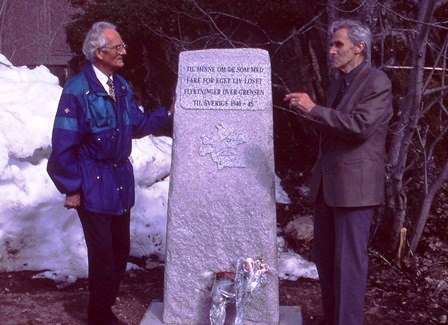 Fra avdukingen i 1995, f.v. Egil Johnson og Karl Skar