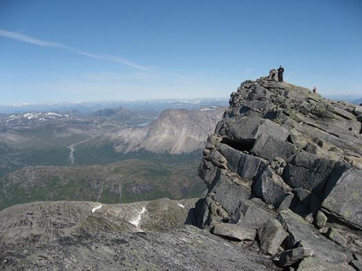 På toppen av Gaskacohkka
