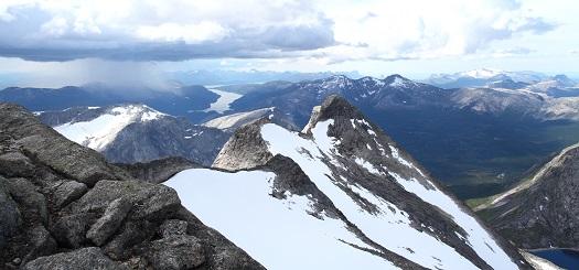 Utsikt fra toppen av Gaska