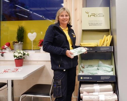 Butikksjef Aina Timonen ved Coop Prix Straumen