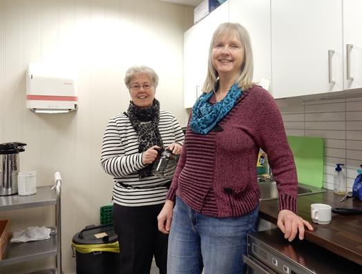 F.v. Ingrid Santi og Anne Pettersen