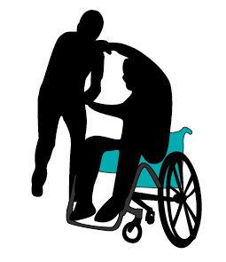 Bilde av to som danser rullestoldans