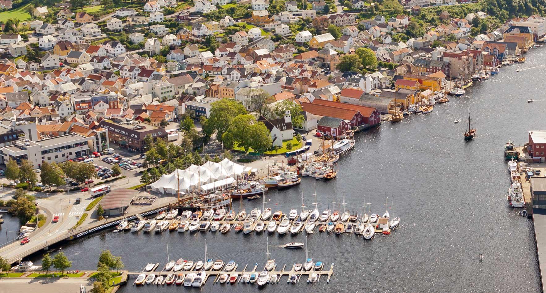 Flyfoto over sentrum
