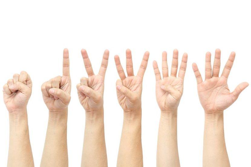 Fem fingre