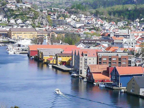 Egersund sentrum og havn