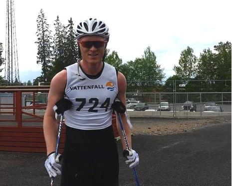 Oskar Svensson visade fin sommarform och vann tvåmilsloppet i stor stil. FOTO: Svenska Skidförbundet.
