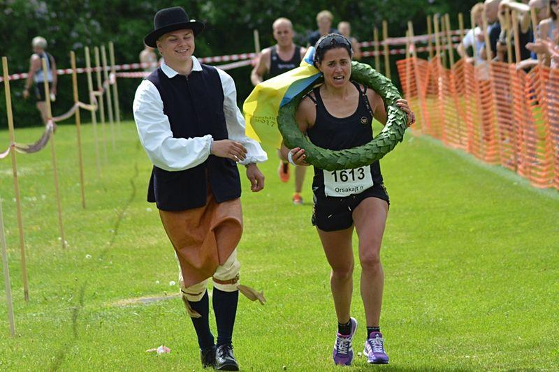 Anna Haag tog segern på 15 kilometer vid Orsakajt´n. FOTO: Johan Trygg/Längd.se.