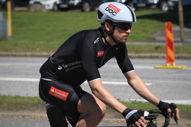 Johan Olsson ska mäta sig mot några av Sveriges bästa MTB-cyklister vid Fjällturen i Funäsfjällen. Då med en annan cykel än på bilden. FOTO: Privat.