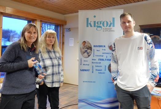 Kigok på yrkesorientering i Sørfold