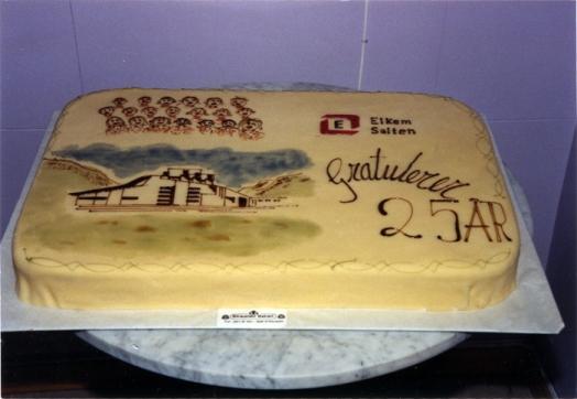 Kake til Elkems 25-årsjubileum