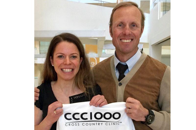 Fredrik Erixon, grundare av CCC1000, tillsammans med Maria Rydqvist. FOTO: CCC1000
