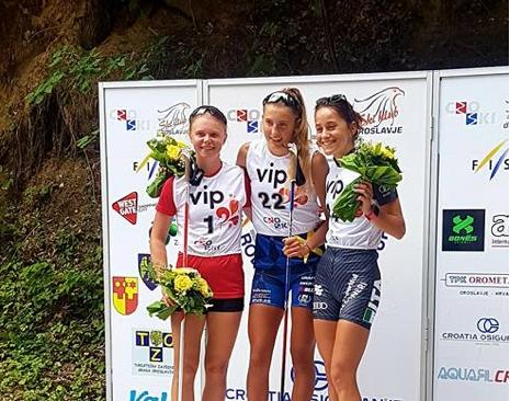 Kristina Axelsson vann överlägset. FOTO: Svenska skidförbundet.