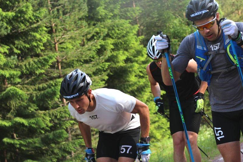 Marcus Johansson och Fredrik Byström är två av många starka åkare till start i Grönklitt Double Poling Hill Climb. FOTO: Lager 157 Ski Team.