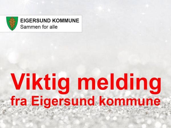 Viktig melding fra Eigersund kommune