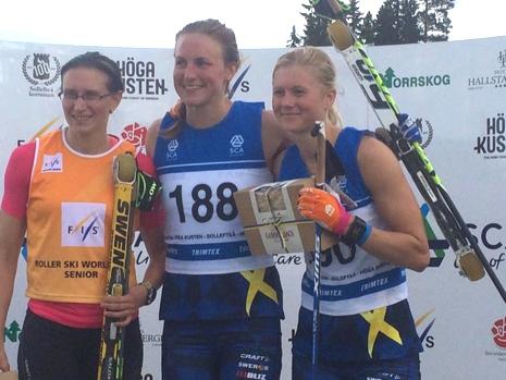 Guld till Linn Sömskar och silver till Maja Dahlqvist. FOTO: Arrangören.