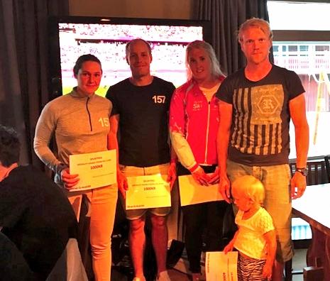 Britta Johansson Norgren och Anton Karlsson tog hem spurtpriserna men Evelina Bångman och Jens Eriksson var snabbast till målet på Grönklitt Double Poling Hill Climb. FOTO: Marcus Laggar.