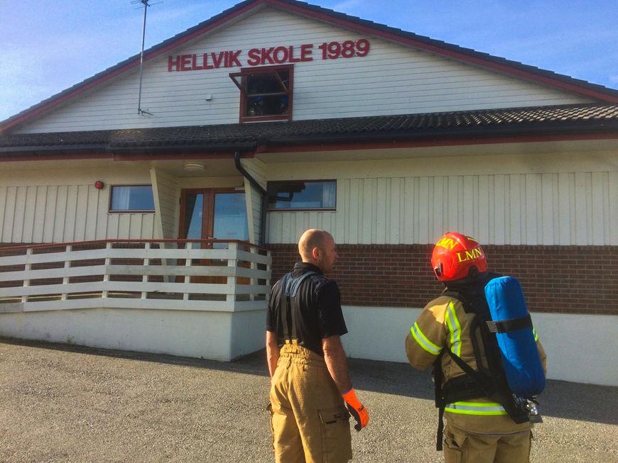 Brann på Hellvik skole