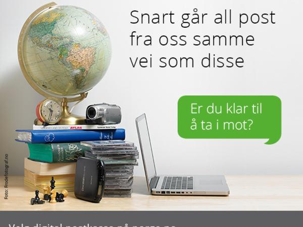 Er du klar til å ta imot digital post? Velg digital postkasse på www.norge.no.