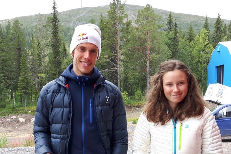 Marcus Hellner och Maja Majbäck tog hem 22 kilometer långa Dundret Extreme Running på lördagen. FOTO: Dundret Extreme Running.