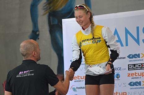 Freya Orban blev första totalsegraren från Skåne när hon tog hem damjuniorklassen. FOTO: Johan Trygg/Längd.se.