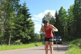 """Britta Johansson kommer """"hem"""" till Uppsala och instruerar under Lager 157 Ski Team:s teknikdag den 23 september. FOTO: Lager 157 Ski Team."""
