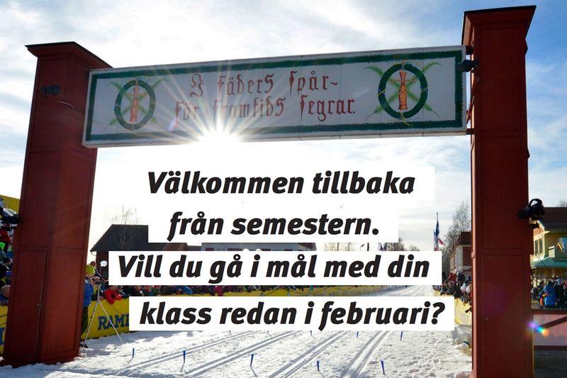 Vasaloppet och Swix ger en hel skolklass chans till start i Ungdomsvasan 2018. FOTO: Vasaloppet/Swix.