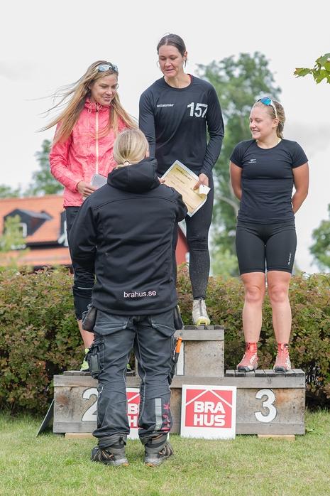 Dampallen: Annika Löfström, Britta Johansson Norgren och Julia Angelsiöö. FOTO: UVK-rullen.