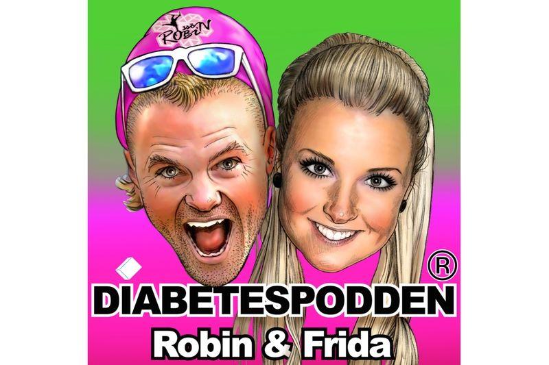 Robin Bryntesson och sambon Frida Linnér startar en podd för att öka medvetenheten och kunskapen om diabetes.