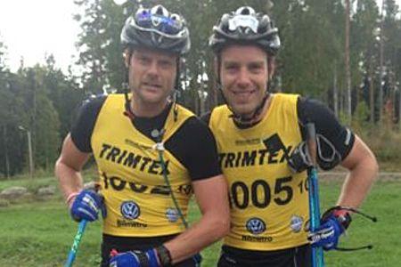 Jimmie Johnsson och Anton Karlsson tog en dubbel på Bessemerrullen i lördags. FOTO: Bessemerrullen.