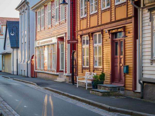 Trehus i Strandgata i Egersund
