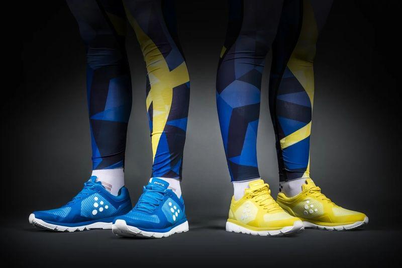 Från och med 2018 kommer längdlandslaget att barmarksträna i löparskor från Craft. FOTO: Craft Sportswear Sverige.