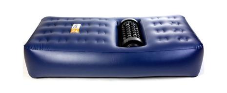 Det finns också en speciell madrass till massage-maskinen. FOTO: Zenproducts.