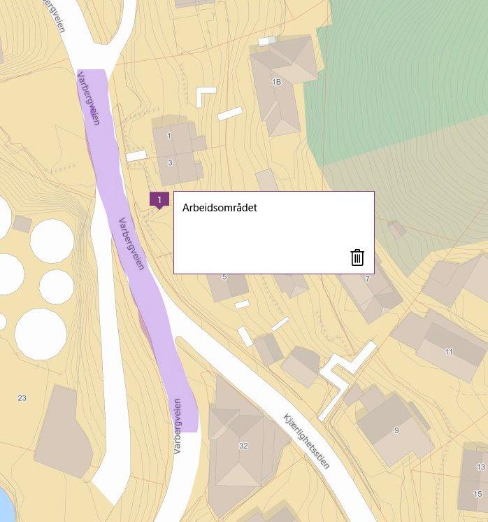 Kart Varbergveien