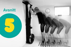 Femte avsnittet av podcasten Vasaloppet Lagom handlar om träning på stakmaskiner. FOTO: Vasaloppet Lagom.