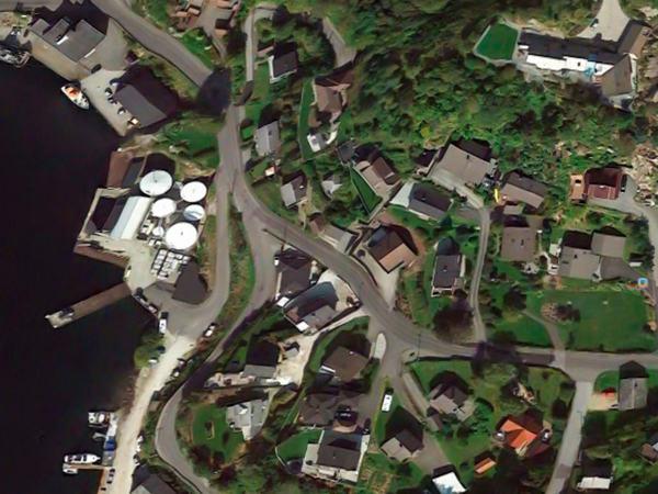 Satelittbilde over Varbergveien