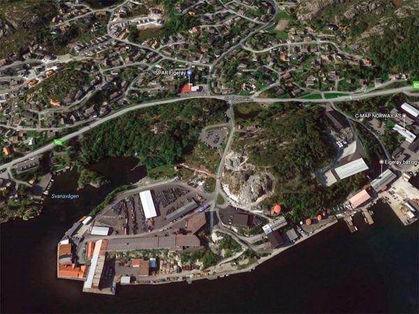 Satelittbilde over Svanavågen