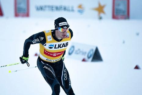 Dario Cologna och hela det schweiziska världscuplaget kommer till Gällivarepremiären. FOTO: Yngve Johansson, Imega Promotion.