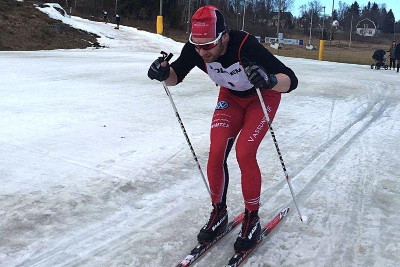 Segraren på Tour de LF  i våras, Jan Mattsson, Vassunda. I vinter väntar En riktig femmil för Jan och alla andra hugade skidåkare. FOTO: Tour de LF.