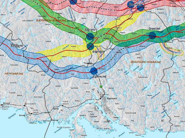 Kart over ny E39
