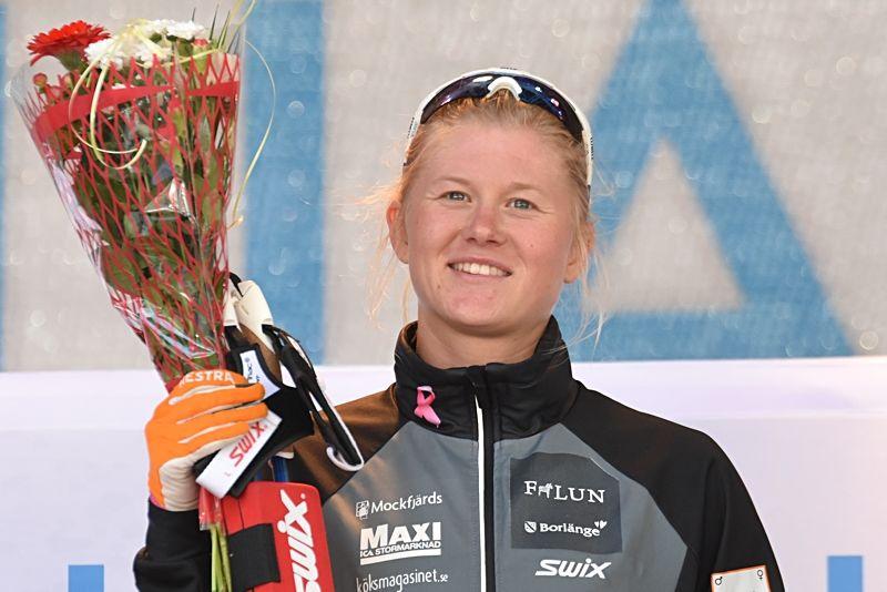 Maja Dahlqvist tog hem prologen vid supersprinten i Östersund under lördagen. FOTO: Rolf Zetterberg.