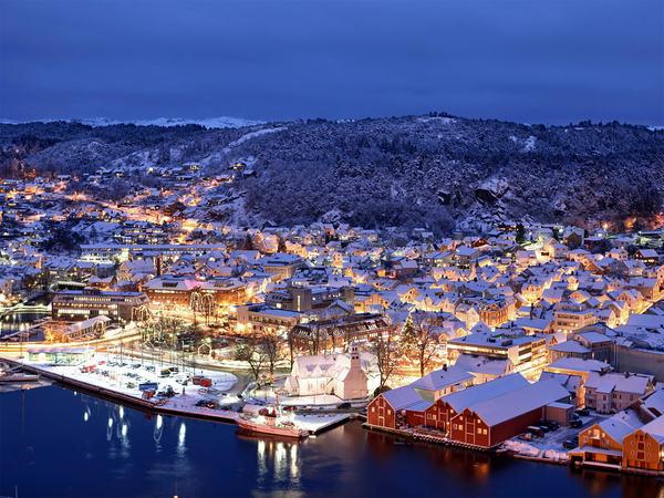 Jul og vinter i Egersund sett fra Kontrari