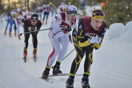 Träna på hantera utförspartierna. Här illlustrerat av Viktor Thorn och Anders Svanebo. FOTO: Längd.se.